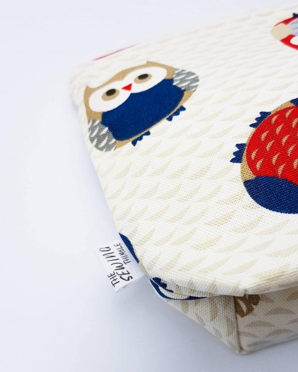 cosmetic bag - owl