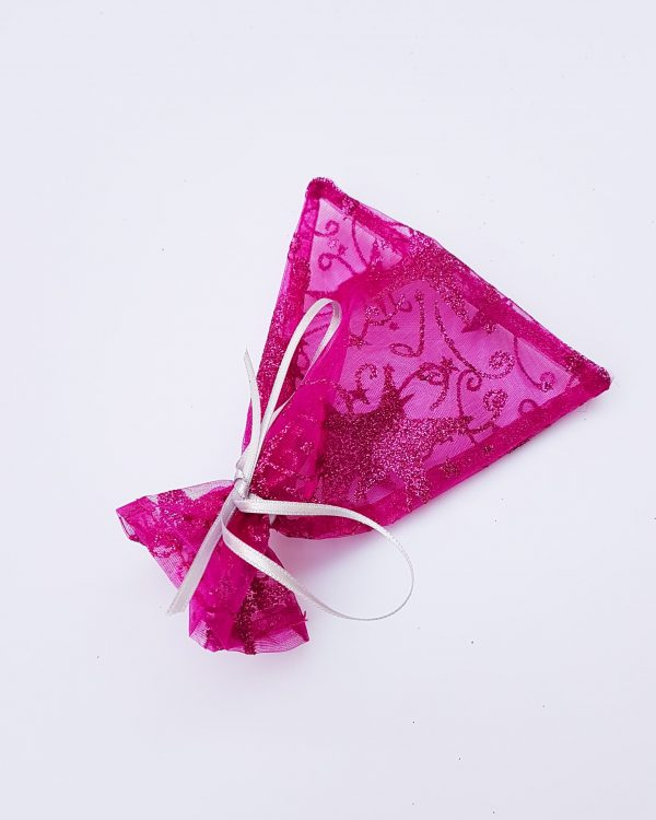 gift bag - pink lacy