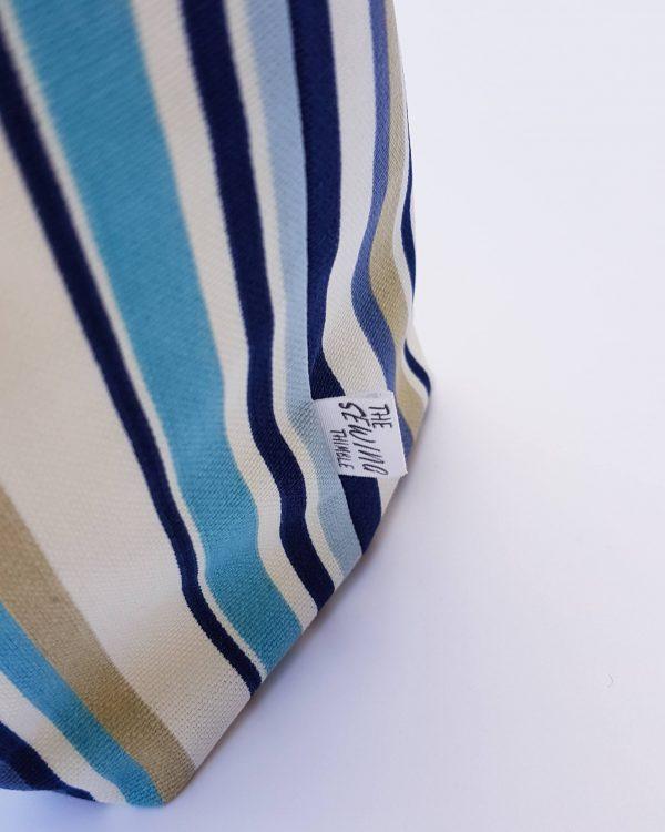 storage basket - blue stripe