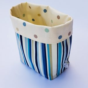 storage basket-blue stripe