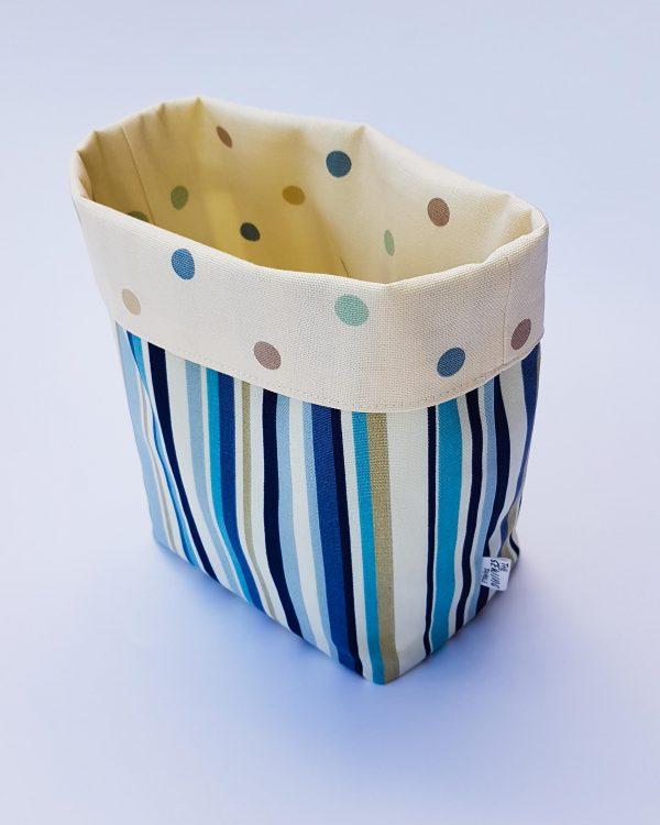 storage basket-blue stripe