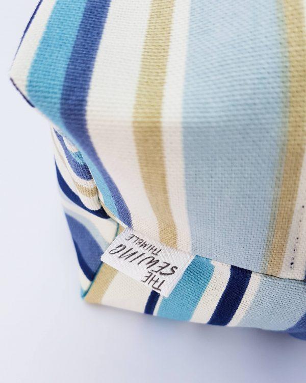 small wash bag - blue stripe